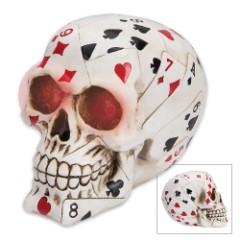 Lucky Bones Poker Face Skullpture