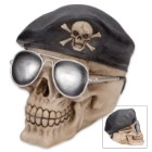 Bones And Beret Ranger Skullpture - Coin Bank