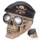 Bones And Beret Ranger Skullpture - Coin Bank
