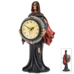 Grim Reaper Statue Clock