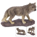 Prowling Wolf Statue