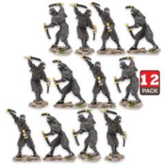 Fighting Ninja Figurine