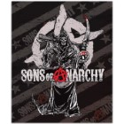 Officially Licensed Sons Of Anarchy Queen Size Faux Mink Blanket