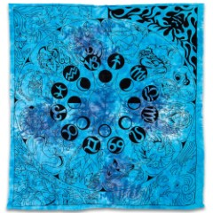 "Zodiac Tapestry Wall Hanging - 100 Percent Cotton, Quality Screen Print, Vibrant Color - Dimensions 90""x 100"""