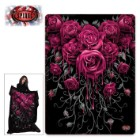 Blood Rose Fleece Blanket