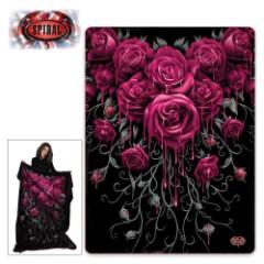 Blood Rose Fleece Blanket