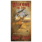 "Welcome to the Man Cave | Vertical Wooden Sign with Deer Art | 7"" W x 14"" H"