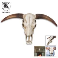 Massive Full Size Bull Steer Skull