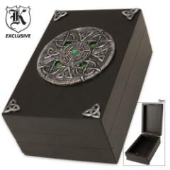 Celtic Wooden Trinket Box
