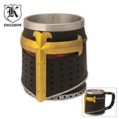 The Holy Grail Black Knight Helmet Coffee Mug