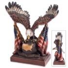 Eagle With US Flag Statue