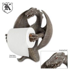 Flying Dragon Polyresin Wall Mount Toilet Paper Holder