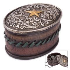 Golden Star Vintage-Style Jewelry Box