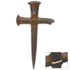 Rustic Nail Cross Plaque