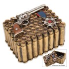 Rustic Bullet and Revolver Jewelry Box