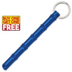 Bamboo Kubaton Keychain - Metallic Blue - BOGO
