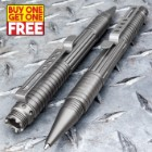 Gray Tactical Pen With DNA Collector - BOGO