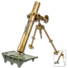 Desk Display M2 60mm Mortar Replica - Metal And Plastic Construction, Accurate Reproduction, Includes Miniature Shell Replicas