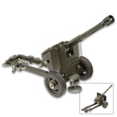 "Desk Display M3 37mm Anti-Tank Gun Replica - All Metal Construction, Accurate Replica - Dimensions 12""x 6"""