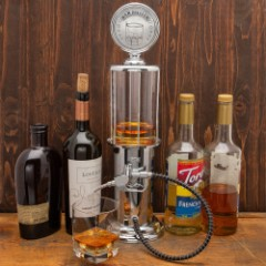"Bartender Beverage Dispenser Gas Pump - Chrome-Plated ABS And Metal Construction, Rubber Hose, Fun Design - Dimensions 19""x 5 1/2"""