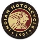 "Vintage Style Tin Sign - 1901 Indian Motorcycle Logo - Antique Replica Placard - Man Cave, Garage, Biker Club, Shop, Home, Office Decor - Indoor / Outdoor - 11 3/4"" Diameter"