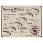 Smith & Wesson Revolvers Vintage Ad Tin Sign - Vibrant Artwork, Corrosion Resistant, Fade Resistant, Rolled Edges, Mounting Holes