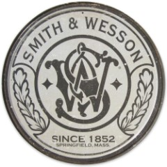 Smith And Wesson Round Tin Sign