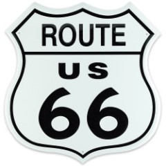 Route 66 Shield Tin Sign