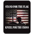 """Stand For The Flag Faux Fur Blanket - Plus Acrylic Material, Color-Saturated Vivid Artwork - Dimensions 70""""x 90"""""""