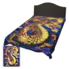 Aurora Dragon Medium Weight Blanket