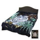 White Tiger Queen Size Blanket
