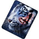 White Stripes Patriotic Tiger Acrylic Mink Blanket