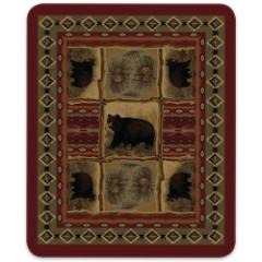 Bears Native Indian Pattern Queen Size Blanket