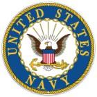 "US Navy Logo 12"" Round Aluminum Sign"