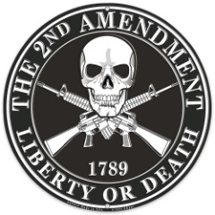 "2nd Amendment ""Liberty or Death"" 12"" Diameter Round Sign"
