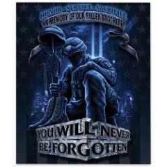 Never Forget Fallen Soldier Fleece Blanket – 50x60