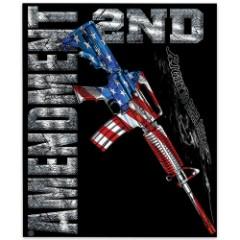AR15 Second Amendment Flag Fleece Blanket – 50x60