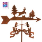 Weather Vane Deer Jumping With Garden Stake