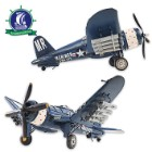 Handcrafted 1944 F4U Corsair Model Airplane | Legendary WWII Fighter Plane | 1:40 Scale