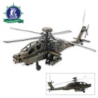 1976 Boeing AH-64 Apache Attack Helicopter   Handcrafted Model US Army Helicopter   1:24 Scale