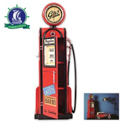 Antique Gas Pump Model with Working Clock Dial - 1:4 Scale