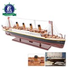 Handcrafted RMS Titanic Model on Display Stand | Historically Faithful Design, Details