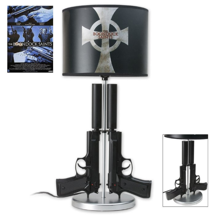 Boondock Saints Double Gun Table Lamp Kennesaw Cutlery