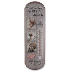 All Gods Creatures Tin Thermometer