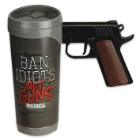 Ban Idiots Replica Pistol Handle Mug