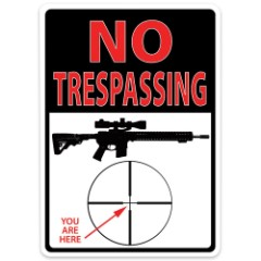 Trespassing Your'e Here Tin Sign