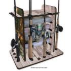 Bass 14 Rod Rack With Four Bin Storage