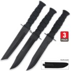 Triple Threat Fixed-Blade Knife Set