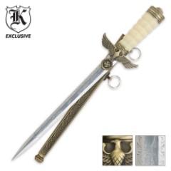 German Dress Eagle Ivory Brass Dagger Knife