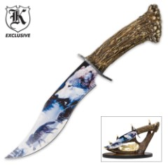 Wild Wolf Pack Bowie Knife